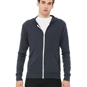Bella + Canvas Triblend Full-Zip Lightweight Hoodie