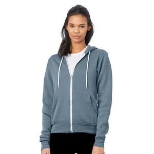 Bella + Canvas Poly-Cotton Fleece Full-Zip Hoodie