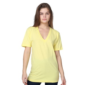 American Apparel Unisex Fine Jersey S/S V-Neck T-Shirt