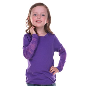 Toddler Raw Edge Two-Fer Burnout Long Sleeve
