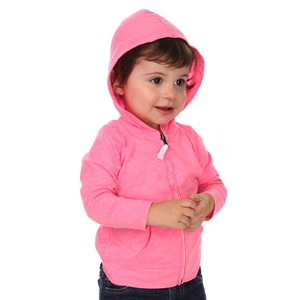 Unisex Infants Jersey Long Sleeve Zip Up Hoodie