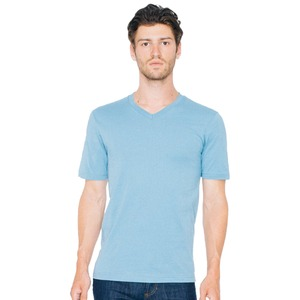 American Apparel Adult Unisex Organic Fine Jersey Short Sleeve Classic V-Neck