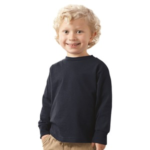 Kids' Unisex Long Sleeve Cotton Jersey Tee