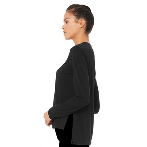 Bella + Canvas Ladies Side Slit Long Sleeve Tee
