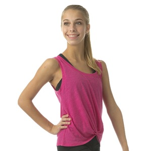 Ladies Squad Knotted Muscle Top
