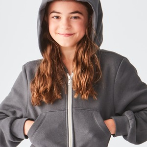 Studio Essentials Girls Crop Full Zip Fleece Hoody