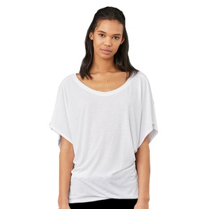 Bella + Canvas Ladies' Flowy Draped Sleeve Dolman T-Shirt