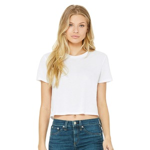 Bella + Canvas Fast Fashion Ladies' Flowy Cropped Tee