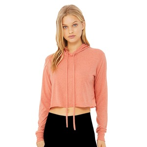 Bella + Canvas Ladies Cropped Triblend Hoodie