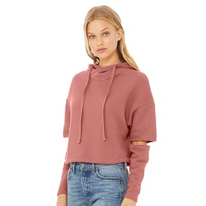 Bella + Canvas Ladies Cut Out Fleece Hoodie