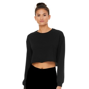 Bella + Canvas Ladies Cropped Long Sleeve Tee
