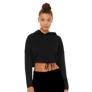 Bella + Canvas Ladies Cinched Cropped Hoodie