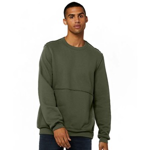 Bella + Canvas Unisex Raw Seam Crew Pullover
