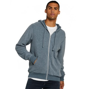 Bella + Canvas Unisex Sueded Fleece Full-Zip Hoodie